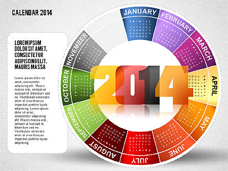 2014 PowerPoint Calendar, Slide 11, 01747, Timelines & Calendars — PoweredTemplate.com