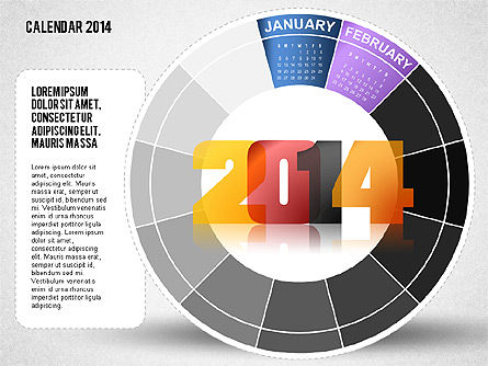 2014 PowerPoint Calendar Slide 2
