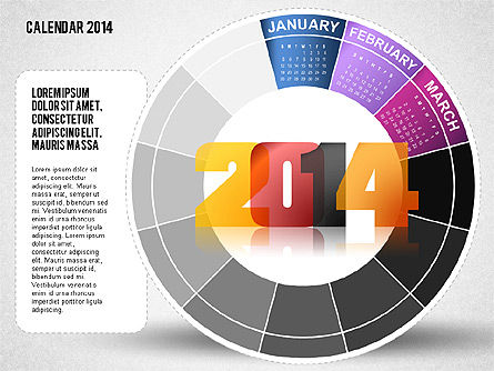 2014 PowerPoint Calendar Slide 3