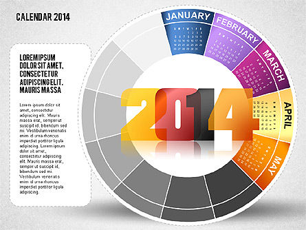 2014 PowerPoint Calendar, Slide 5, 01747, Timelines & Calendars — PoweredTemplate.com