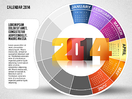 2014 PowerPoint Calendar, Slide 6, 01747, Timelines & Calendars — PoweredTemplate.com