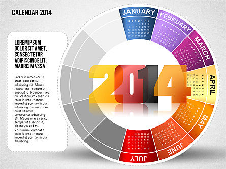 2014 PowerPoint Calendar, Slide 7, 01747, Timelines & Calendars — PoweredTemplate.com