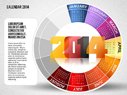 2014 PowerPoint Calendar, Slide 8, 01747, Timelines & Calendars — PoweredTemplate.com