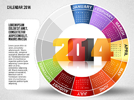 2014 PowerPoint Calendar, Slide 9, 01747, Timelines & Calendars — PoweredTemplate.com
