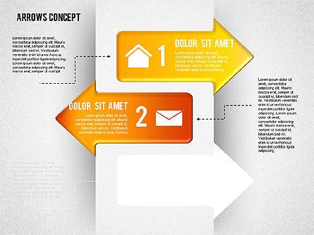 Options and Arrows Diagram, Slide 2, 01749, Process Diagrams — PoweredTemplate.com