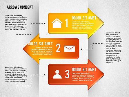 Options and Arrows Diagram, Slide 3, 01749, Process Diagrams — PoweredTemplate.com