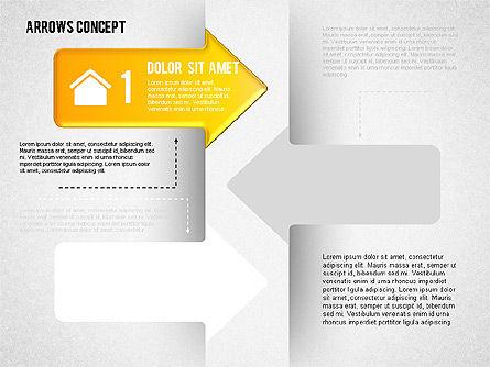 Options and Arrows Diagram, Slide 4, 01749, Process Diagrams — PoweredTemplate.com