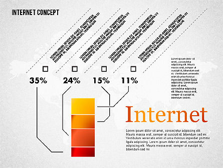 Internet Infographics, Slide 4, 01751, Business Models — PoweredTemplate.com