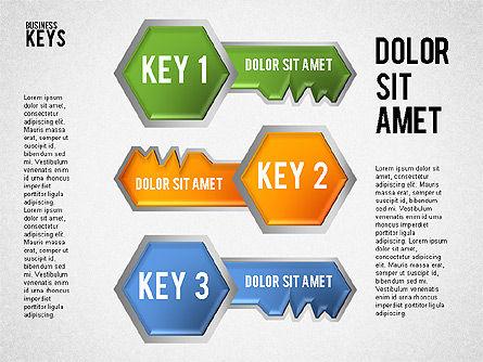 Keyhole and Keys Diagram, Slide 2, 01755, Business Models — PoweredTemplate.com
