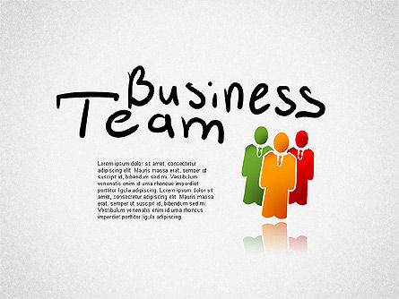 Business Team Presentation, 01757, Business Models — PoweredTemplate.com