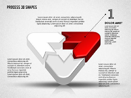 Process Diagrams: 3D Color Process Shapes #01759