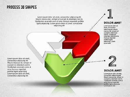 3D Color Process Shapes, Slide 2, 01759, Process Diagrams — PoweredTemplate.com