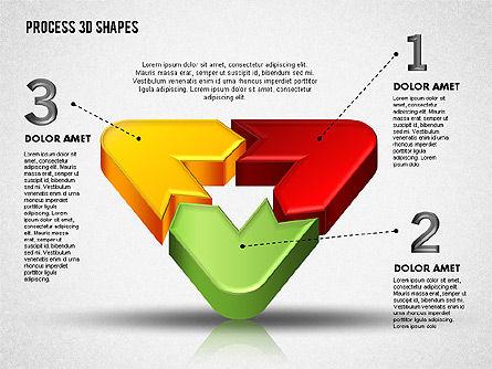 3D Color Process Shapes, Slide 3, 01759, Process Diagrams — PoweredTemplate.com