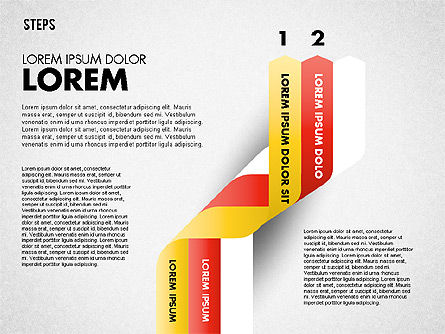 Polylines Options Diagram, Slide 2, 01760, Business Models — PoweredTemplate.com