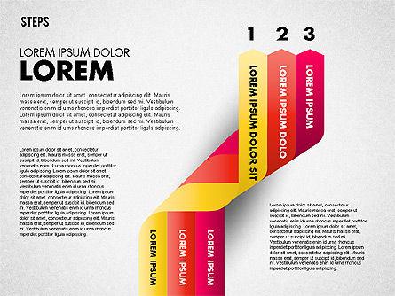 Polylines Options Diagram, Slide 3, 01760, Business Models — PoweredTemplate.com