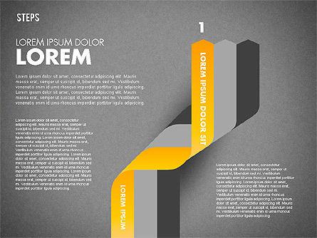 Polylines Options Diagram, Slide 9, 01760, Business Models — PoweredTemplate.com