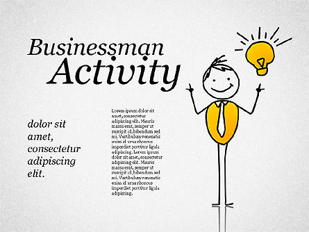 Shapes: Businessman Activity Shapes #01761