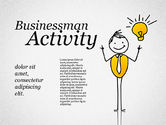 Shapes: Zakenman activiteit vormen #01761