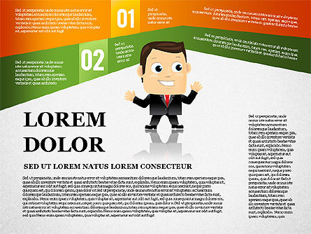 Options Banner with Character Diagram, Slide 2, 01763, Business Models — PoweredTemplate.com