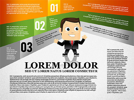 Options Banner with Character Diagram, Slide 3, 01763, Business Models — PoweredTemplate.com