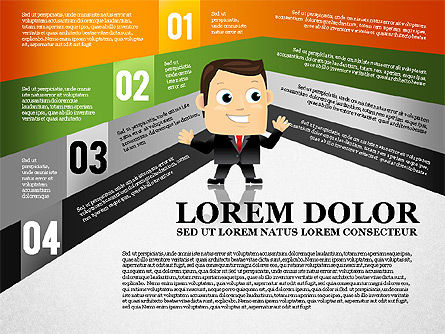 Options Banner with Character Diagram, Slide 4, 01763, Business Models — PoweredTemplate.com