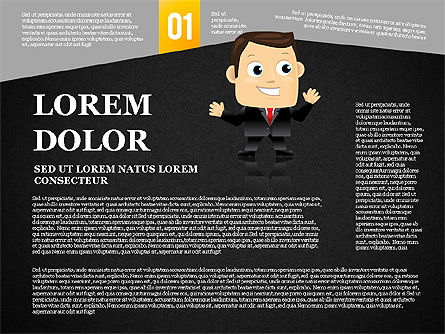 Options Banner with Character Diagram, Slide 9, 01763, Business Models — PoweredTemplate.com