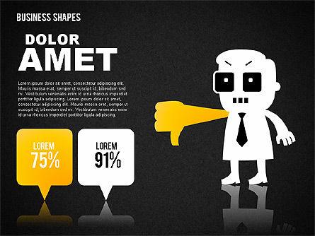 Funny Business Illustrations, Slide 13, 01766, Business Models — PoweredTemplate.com