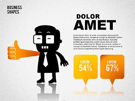 Funny Business Illustrations, Slide 7, 01766, Business Models — PoweredTemplate.com