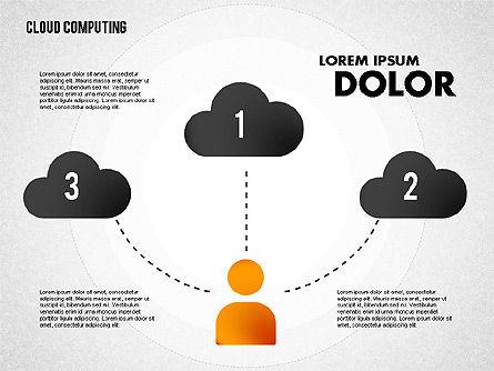 Cloud Storage Diagram, Slide 3, 01767, Business Models — PoweredTemplate.com