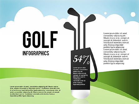 Shapes: Golf-Infografiken #01770
