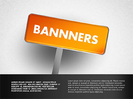 Banners with Words, 01771, Business Models — PoweredTemplate.com