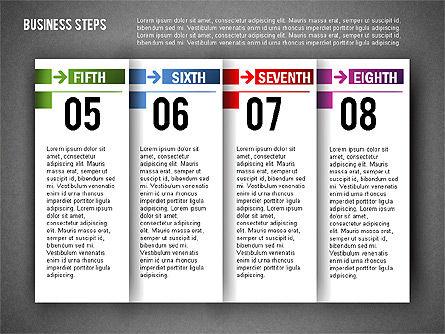 Business Steps Agenda, Slide 10, 01772, Business Models — PoweredTemplate.com