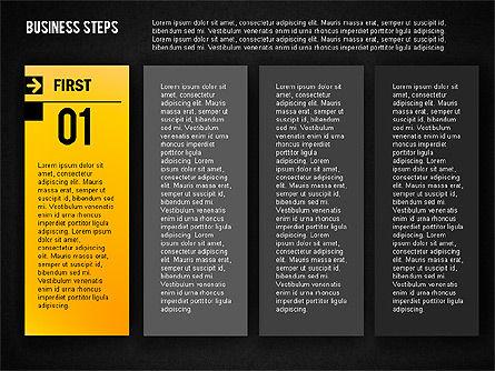 Business Steps Agenda, Slide 11, 01772, Business Models — PoweredTemplate.com