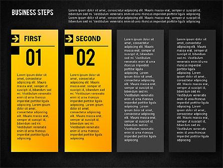 Business Steps Agenda, Slide 12, 01772, Business Models — PoweredTemplate.com