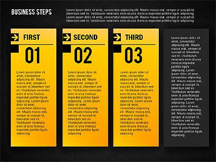 Business Steps Agenda, Slide 13, 01772, Business Models — PoweredTemplate.com