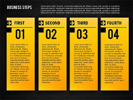 Business Steps Agenda, Slide 14, 01772, Business Models — PoweredTemplate.com