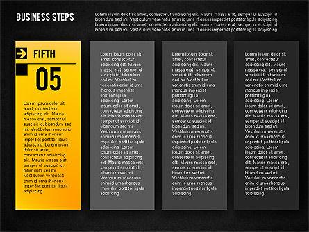 Business Steps Agenda, Slide 15, 01772, Business Models — PoweredTemplate.com