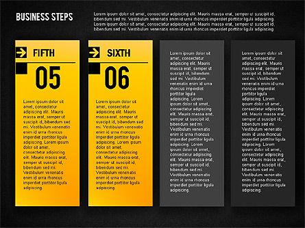 Business Steps Agenda, Slide 16, 01772, Business Models — PoweredTemplate.com