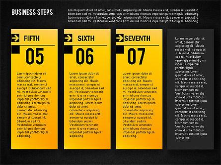 Business Steps Agenda, Slide 17, 01772, Business Models — PoweredTemplate.com