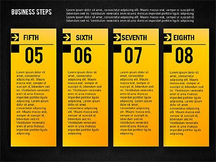 Business Steps Agenda, Slide 18, 01772, Business Models — PoweredTemplate.com