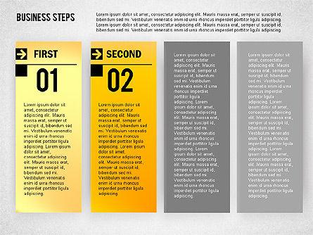 Business Steps Agenda, Slide 2, 01772, Business Models — PoweredTemplate.com
