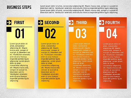 Business Steps Agenda, Slide 4, 01772, Business Models — PoweredTemplate.com