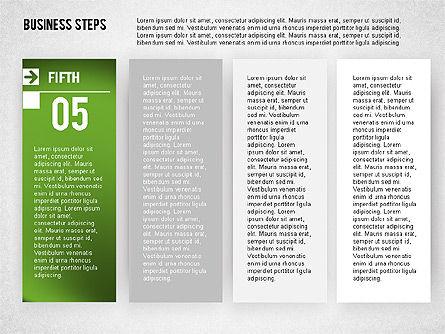 Business Steps Agenda, Slide 5, 01772, Business Models — PoweredTemplate.com