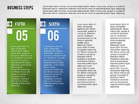 Business Steps Agenda, Slide 6, 01772, Business Models — PoweredTemplate.com