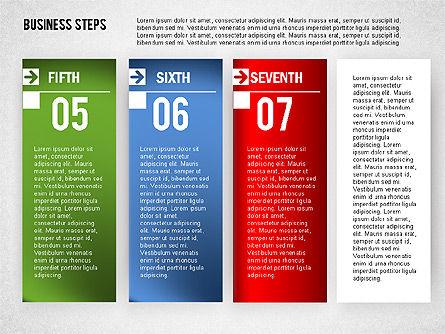 Business Steps Agenda, Slide 7, 01772, Business Models — PoweredTemplate.com