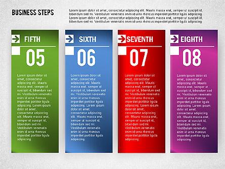 Business Steps Agenda, Slide 8, 01772, Business Models — PoweredTemplate.com
