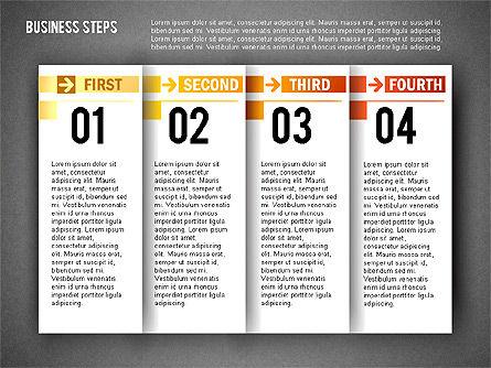 Business Steps Agenda, Slide 9, 01772, Business Models — PoweredTemplate.com