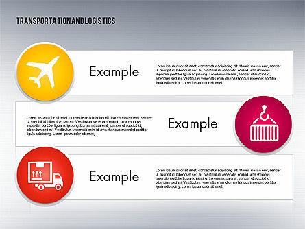 Transportation and Logistics Process with Icons, Slide 10, 01773, Business Models — PoweredTemplate.com