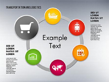 Transportation and Logistics Process with Icons, Slide 11, 01773, Business Models — PoweredTemplate.com
