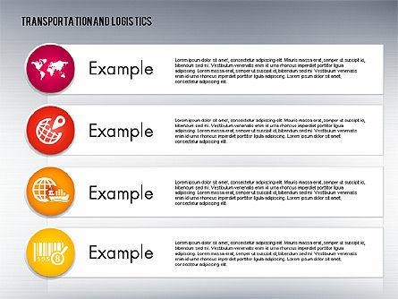 Transportation and Logistics Process with Icons, Slide 13, 01773, Business Models — PoweredTemplate.com